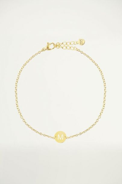 Bracelet with letter gold, Initial bracelet, Bracelets