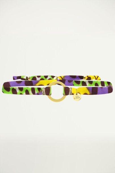 Paarse African Circle Bracelet