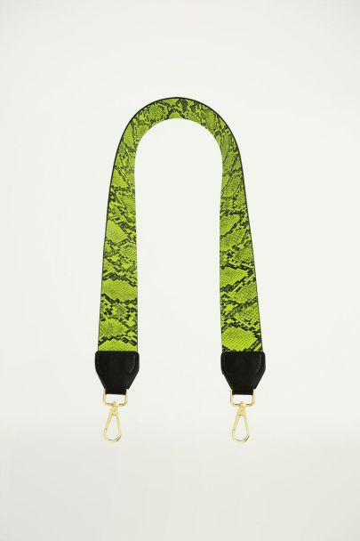 Groen tashengsel slangenprint, tashengsel