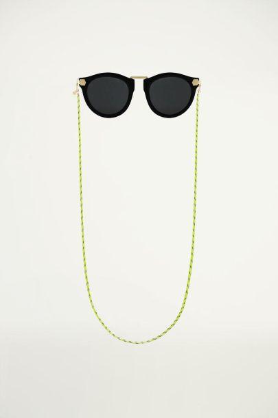Grüne Sonnenbrillenkette mit gedrehter Schnur