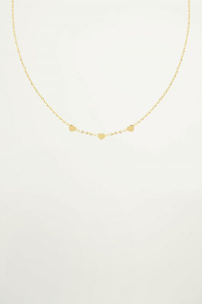 Three-heart necklace, minimalist necklace My Jewellery