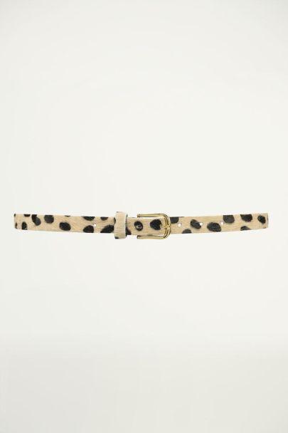 Leren riem met cheetah print