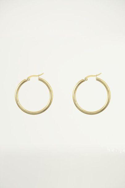 Basic small earrings, hoop earrings