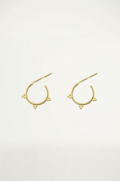 Tiny ball detail earrings, hoop earrings