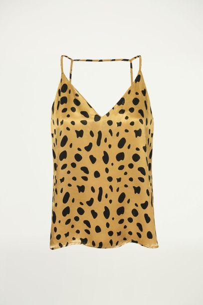 Top cheetah print, hemdje luipaardprint