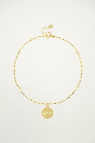 Bracelet with Girl boss pendant