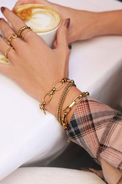 Bracelet coarse oval links