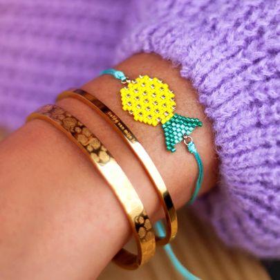 Kralen armband ananas