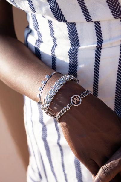 Armband chunky schakels motief