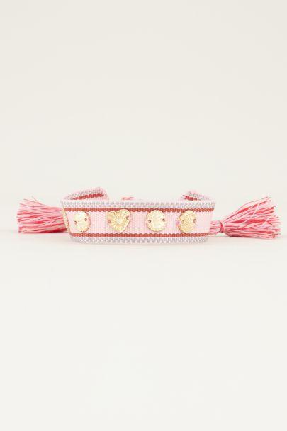 Roze bohemian armband | Bohemian armbanden My jewellery