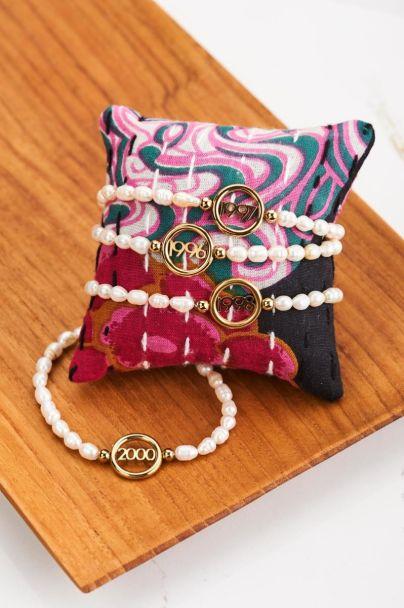 Armband jaartal parels