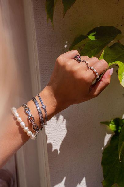 Armband met grote parels