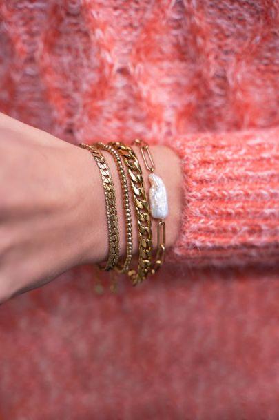 Armband platte schakels