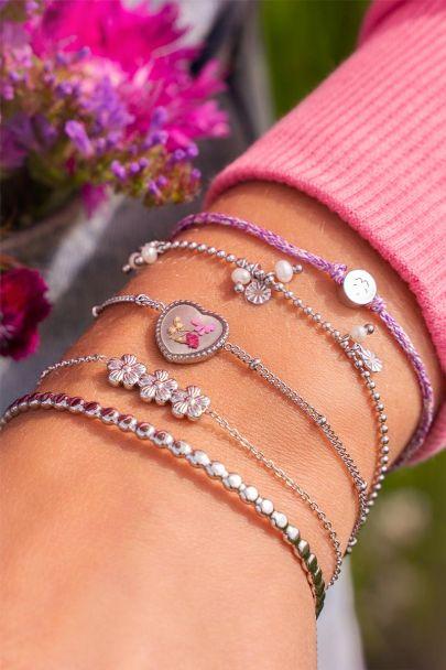 Armband wildflower hartje