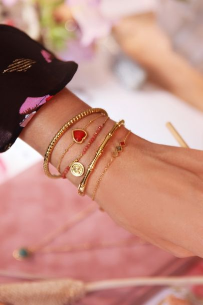 Armband lichte edelsteentjes