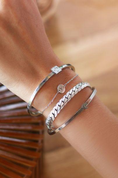 Armband initiaal kleine schakel