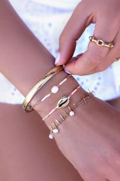 Armbandje kralen & parel