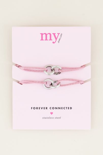 Roze forever connected armband | Vriendschap sieraden My jewellery