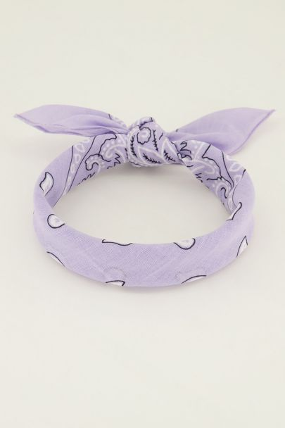 Lila sjaaltje bandana print