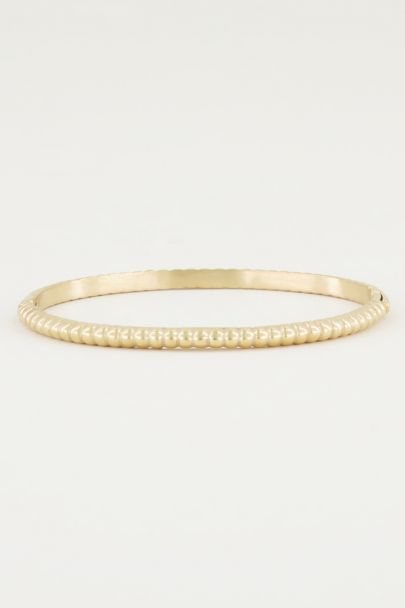 Bangle geribbeld smal, slavenarmband