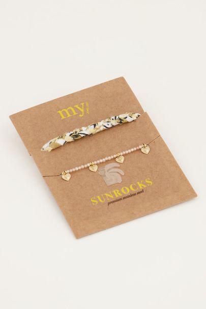 Beige gevlochten armbanden set | My Jewellery