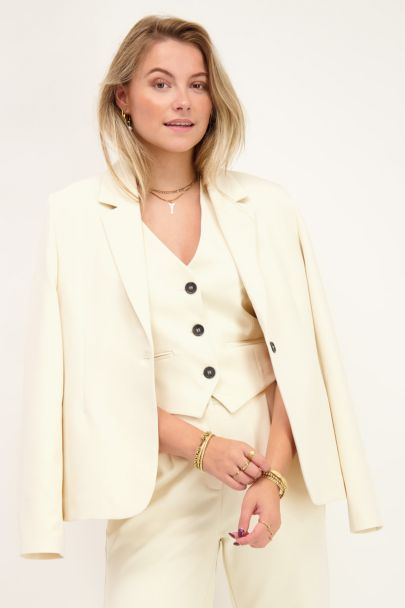 Beige gilet with buttons