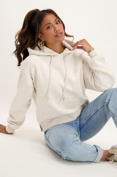 Beige hoodie with My Jewellery logo