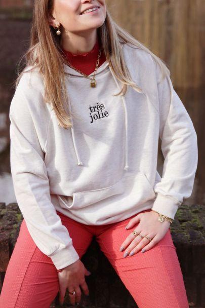 Beige hoodie très jolie