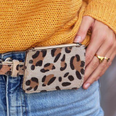 Beige Small Leopard Wallet