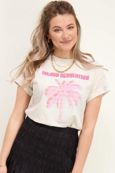 Beige T-shirt island revolution