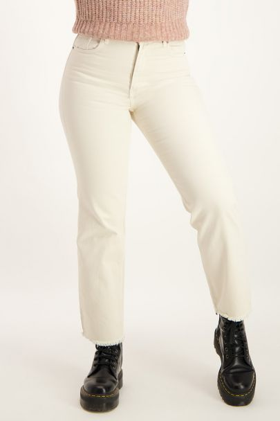 Beige straight fit jeans