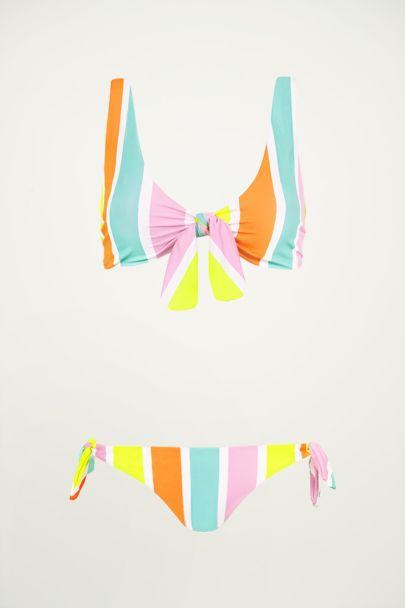 Multikleur bikini gestreept, gestreepte bikini