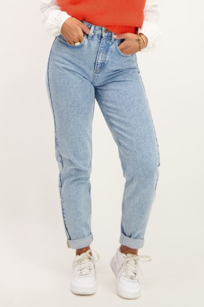 Blauwe jeans straight fit