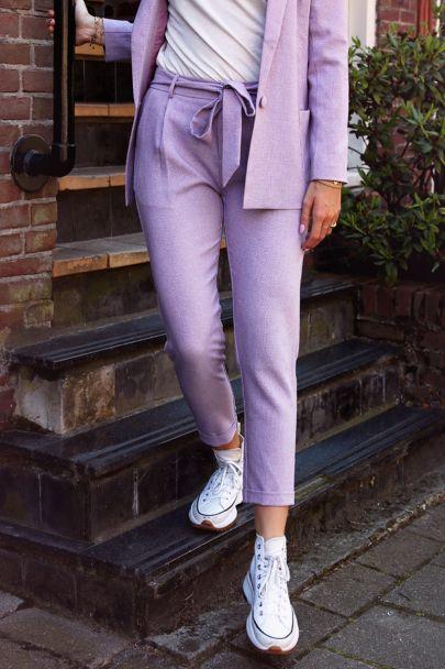 Lila pantalon casual