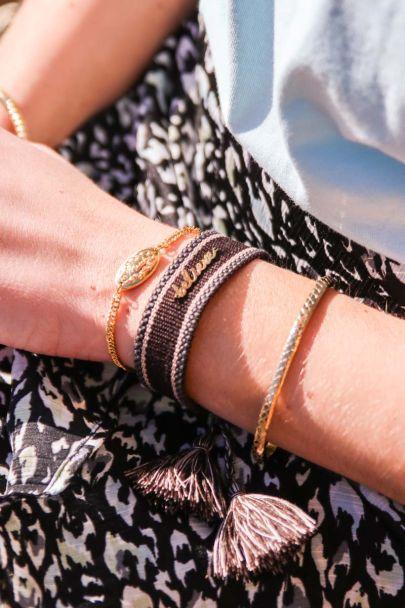 Bruine bohemian armband believe