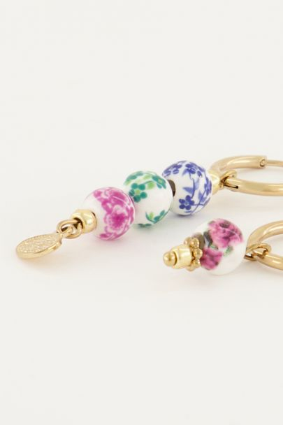 Ceramic earrings with beads