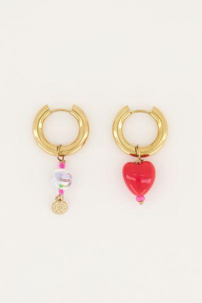 oorbellen set van twee hart