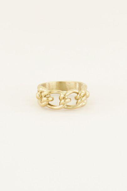 Ring ovale schakels | Ring met schakels My Jewellery