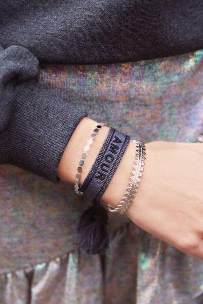 Dark blue bohemian bracelet amour
