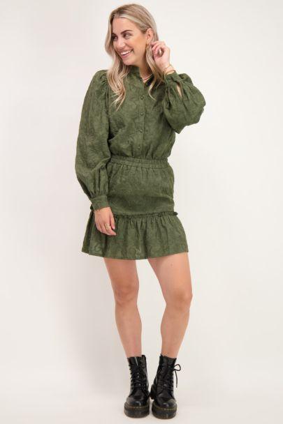 Dark green skirt embroidery