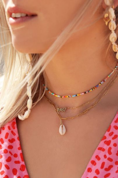 Double chain beads & shell