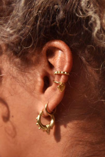 Ear cuff hangend hartje