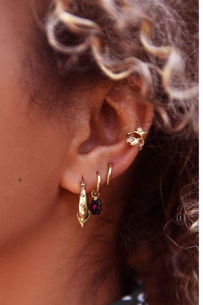 Pink flowers ear cuff