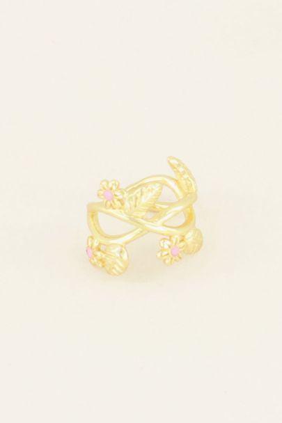 Wildflower ear cuff with flowers & petals | Ear cuffs | My Jewellery