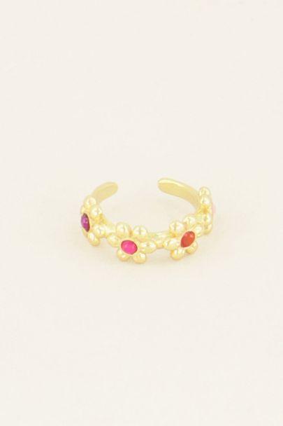 Wildflower ear cuff vier bloemetjes | Ear cuffs | My Jewellery