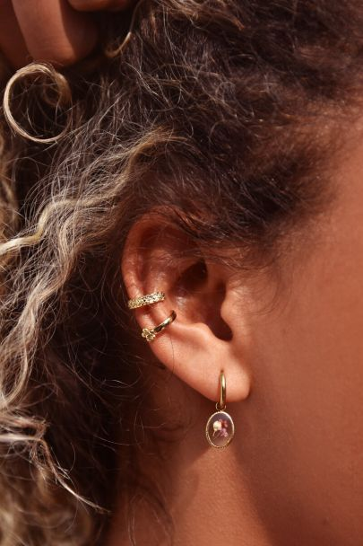 Ear cuff violet