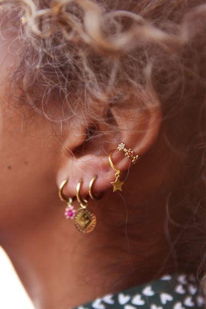 Ear cuff vier bloemetjes