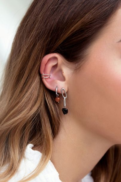 Ear cuff double ring