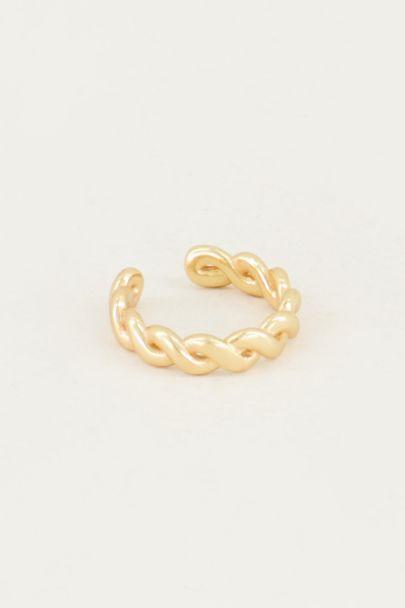 Fake piercing, braided ear cuff, fake earring