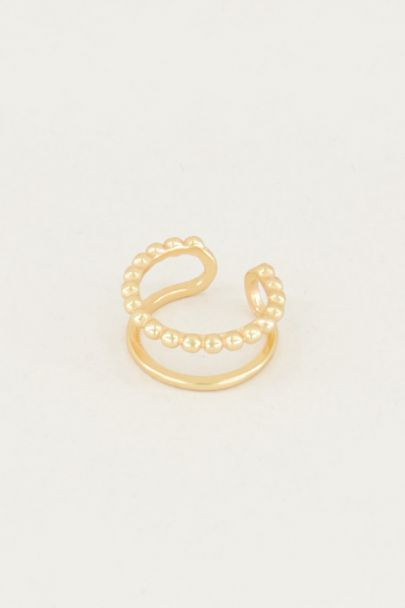 Ear cuff double ring, faux earrings